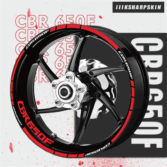عجلة شريط شعار مجموعة مقاوم للماء دراجة نارية ملصقا شخصية عجلة الزخرفية زين موتو لهوندا CBR650F cbr 650f
