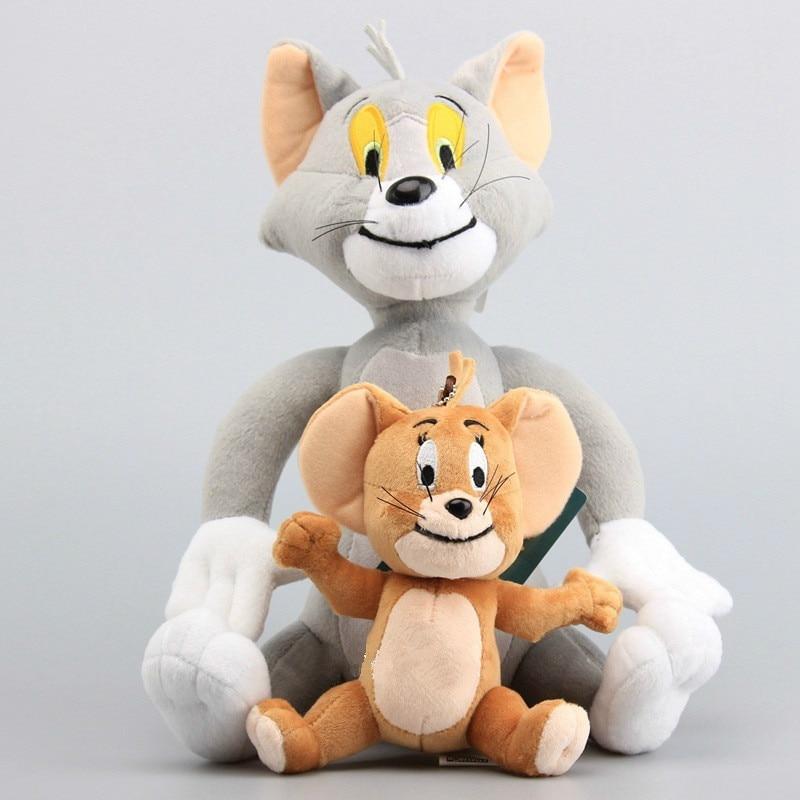 2 шт./компл. Обычно прибывает через 15-30 см мягкие Животные игрушки куклы забавный кот Мышь Tom модель Джерри классические плюшевые игрушки кук...