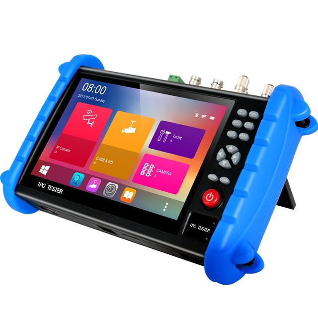 7 Polegada h.265 4 k ip hd cctv tester monitor ahd cvi tvi sdi câmera testador 8mp cabo de varredura onvif fibra óptica vfl tdr