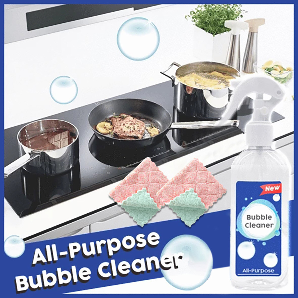 All-Purpose Cleaner Kitchen Multi-Purpose Cleaner Heavy Oil Foam Cleaner Bubble Cleaner With Cleaning Towel Car Cleaning Cleaner