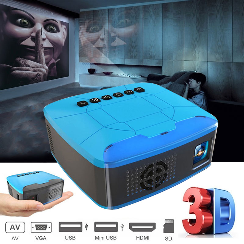 U20 mini palm projektor USB HDMI AV video projektor heimkino film projektor für Home Cinema Ful Lumen HD Tragbare LED