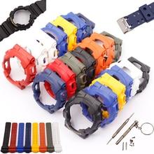 Аксессуары для часов Casio G-shock GD120 100 110 100C чехол с ремешком из смолы комплект мужской водонепроницаемый спортивный ремень для часов