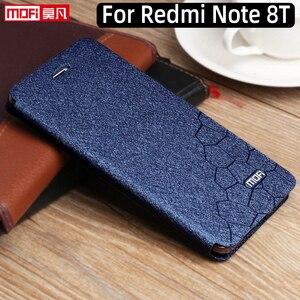 Image 1 - Etui à rabat pour xiaomi redmi note 8 t étui redmi 8 t housse cuir Redmi Note 8 T housse dorigine support arrière coque silicone business