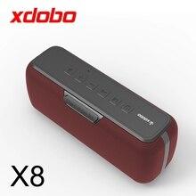 XDOBO X8 60W 빅 파워 블루투스 스피커 휴대용 방수 뮤직 센터 TWS 서브 우퍼 컬럼 dsp베이스 사운드 바 지원 TF AUX