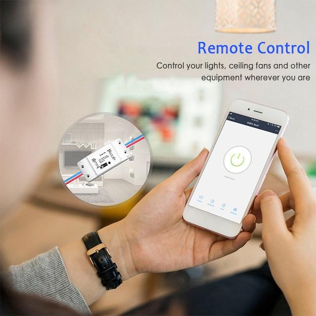 New Smart Light Switch DIY WiFi Breaker Timer Tuya / Smart Life APP Wireless Remote Control Work with Alexa Amazon Google Home 6