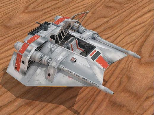Star Wars Rebel Snowmobile Airplane Paper Model Toys