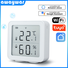 Awaywar Tuya WIFI Temperature and Humidity Sensor Indoor Hygrometer Thermometer Detector