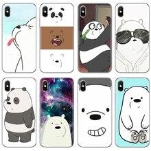 For iPhone iPod Touch 11 12 Pro 4 4S 5 5S SE 5C 6 6S 7 8 X XR XS Plus Max 2020 Luxury Silicone Phone Case We Bare Ice Bear Panda