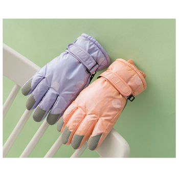 New Winter Female Warm Gloves Girlish Style Windproof Waterproof Gloves For Kids/Adults Non-slip Glove For Outdoor Cycling Skii image