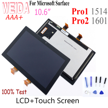 WEIDA 10.6 For Microsoft Surface Pro1 Pro2 LCD Display Touch Screen Digitizer Assembly For Surface Pro 1 1514  Pro 2 1601 LCD