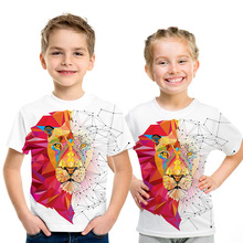 Animal Lion Baby Kids Girls Boys T Shirt Summer Children Tops Tees Clothes Child Clothing Cartoon Funny Casual