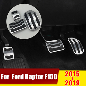 Image 2 - עבור פורד Raptor F150 2015 2016 2017 2018 2019 2020 AT רכב מאיץ דוושת בלם דוושות החלקה כיסוי רפידות לחיתוך רכב אבזר
