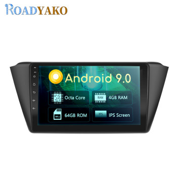 9'' Android GPS Navigation Player For Skoda Fabia 2015-2019 Stereo Auto Car Radio Multimedia магнитола 2 Din Car Frame Autoradio image