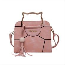 Женская сумка через плечо из искусственной кожи, женские сумки в форме кошки, одноцветная большая сумка на плечо с крылышками, сумки-мессенджеры с котом, женские Сумки из искусственной кожи