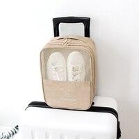 Portable Unisex Shoes Bags Travel Waterproof Nylon Underwear Makeup Organizer Zipper Pouch Travel Cable Storage Bag Accessories