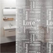Rideau de douche moderne crochet anti-moisissure rideaux translucide étanche PEVA Alphabet feuilles imprimé rideau porte de toilette rideau