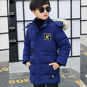 Image 2 - 키즈 겨울 자켓 소년 공원 12 어린이 의류 13 소년 14 겨울 의류 15 16 재킷 두꺼운 면화 30도