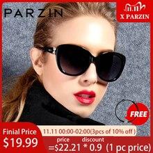 PARZIN büyük boy güneş kadınlar lüks marka ile polarize UV400 Lens kelebek güneş gözlüğü Vintage gözlük Oculos De Sol