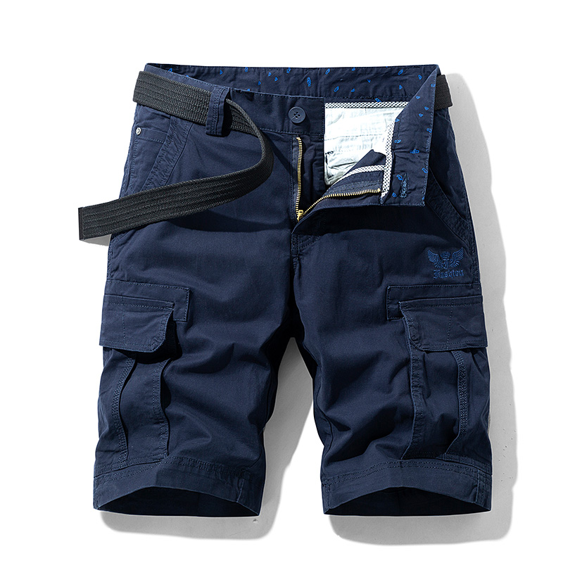 Luulla Men Summer New Premium Twill Cotton Cargo Shorts Men Fashion Classic Solid Pockets Legwear Cargo Shorts Men Big & Tall