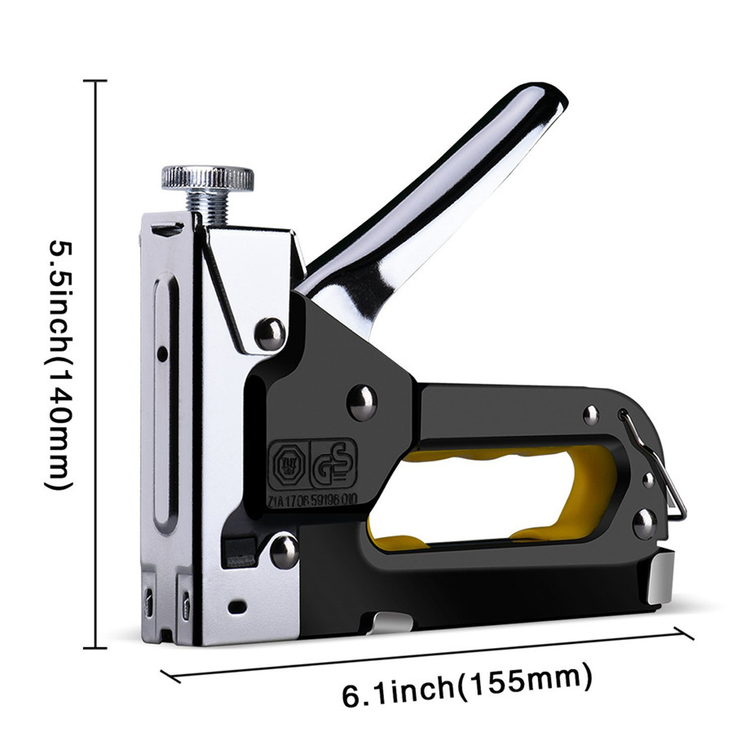 1 Set Fast Nailed Door Furniture Staple Tacker 3-way Hand Nail Staple Gun With 600pcs Nails Wooden Leather Hand Tool