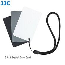 JJC 8.5x5.4 cm 3in1 18% Gray Card Balance de Blancos Digital DSLR SLR de La Cámara Pequeña Herramienta WB para el Cine fotografía