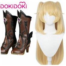 Dokidoki jogo genshin impacto cosplay halloween fischl cosplay peruca genshin impacto fischl cosplay cabelo
