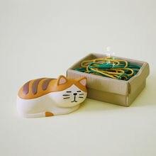 Японский ящик zakka Кот миниатюрный зажим для бумаги коробка