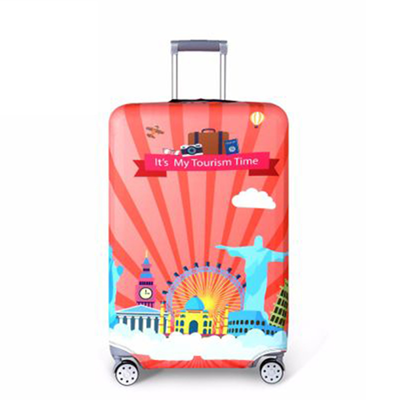 Thicker Travel Suitcase Protective Cover Luggage Case Elastic Luggage Dust Cover Apply To 18''-32'' Suitcase Travel Accessories