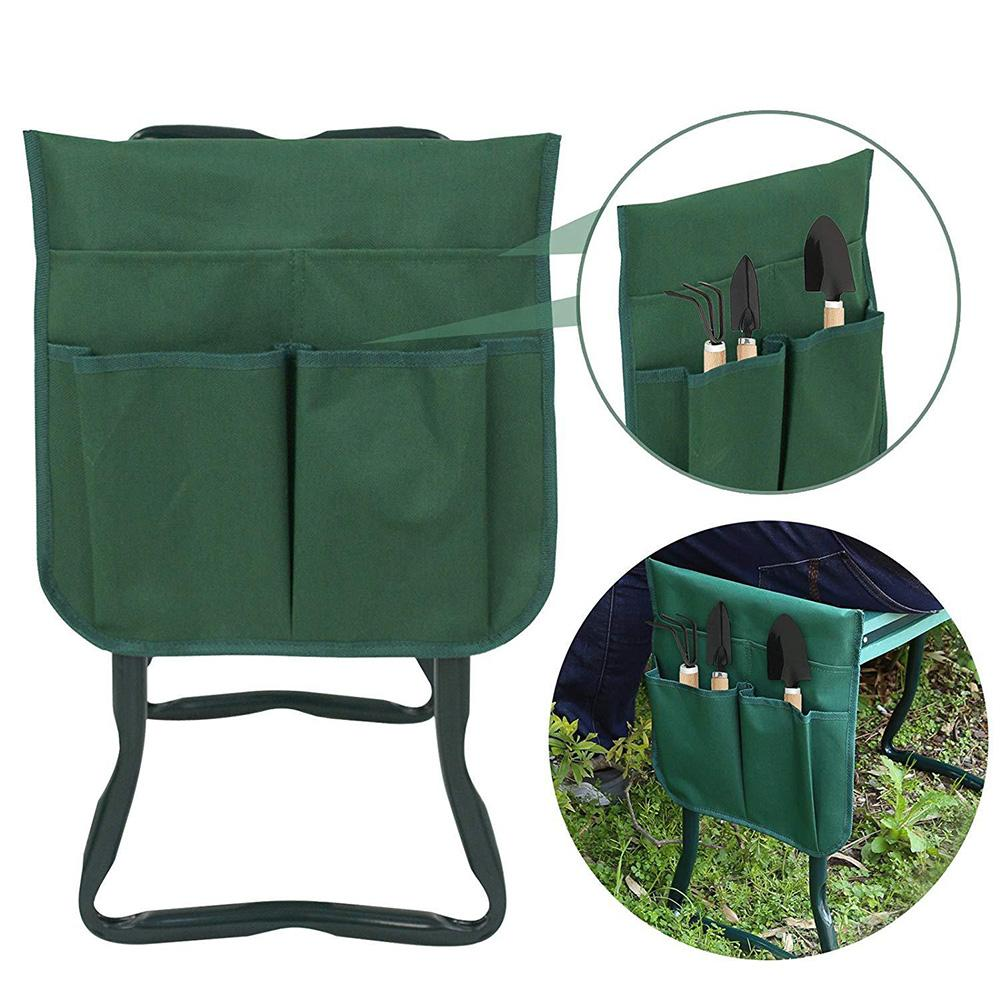 Pad With Small Cloth Bag Garden Folding Stool Folding Belt Tool Bag Cultivation Cutting Grass Tool Storage Tool Bag Garden Tools