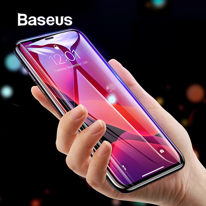 Baseus 0.3mm Full Coverage Protective Glass For IPhone 11 Pro Max Tempered Glass Screen Protector For IPhone 11 Pro Glass