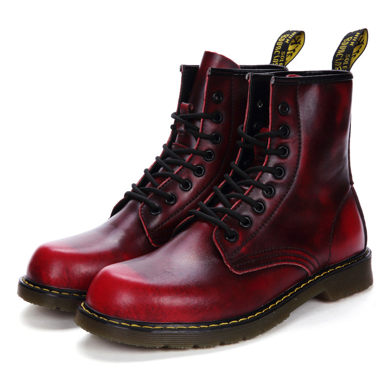VSIOVRY Quality Men Boots Genuine Leather Spring Autumn Men Shoes Fashion Chelsea Boots Warm Fur Winter Snow Shoes Lovers Botas