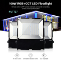Miboxer 100 Вт RGB + CCT Светодиодный прожектор IP65 Водонепроницаемый светодиодный наружное освещение совместим с пультом дистанционного управлени...