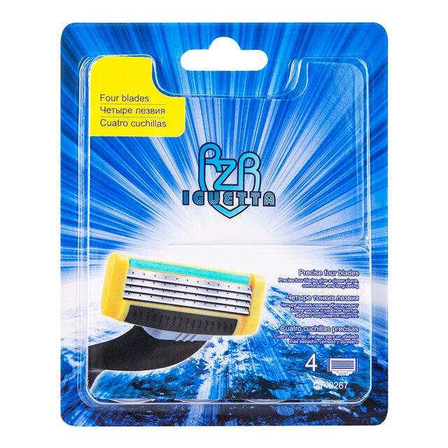 Сменные картриджи для бритья RZR Iguetta GF4-0267, 4 шт. 1