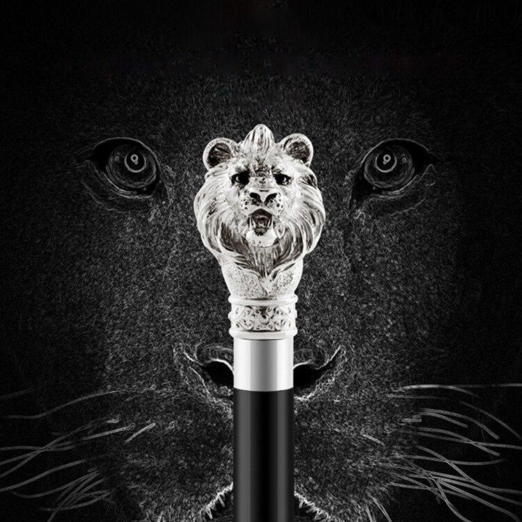 Parapluie crâne de serpent tête de Lion Gentleman élégant pour hommes et femmes automatique à Long manche noir pas parapluie inverse
