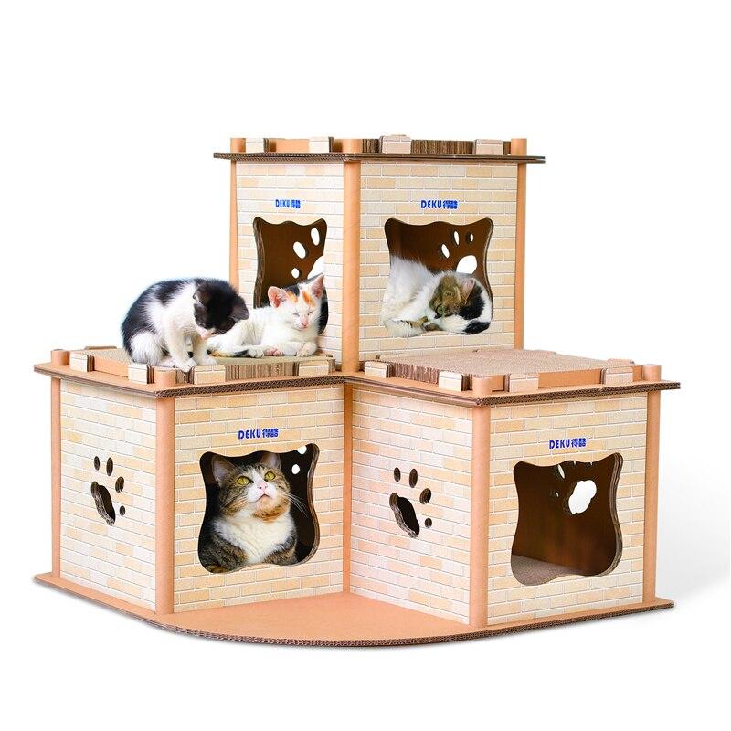 Griffoir chat cerfs-volants haut de gamme homme griffe de chat double montée marque maison