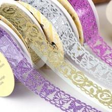 Lace Sticker Tape Craft-Paper Glitter Self-Adhesive Scrapbooking-Decor Festival-Decorations