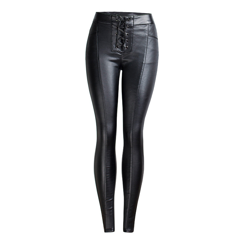Ladies Jeans Thick-Pants Lace-Up Skinny Black Mujer Winter Femme Plus-Size Woman 3XL