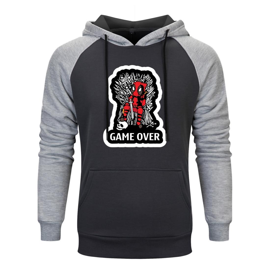 Men Deadpool Print Hoodies Sweatshirts Fashion Autumn Winter Harajuku Tracksuits Pullovers Fleece Streetwear Hoody Clothes 2019