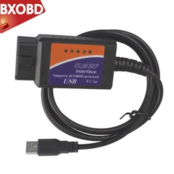 USB OBD II ELM327 USB WITH PIC18F25K80 CHIP V1.5 Car Diagnostic USB Cable Interface Supports All OBD2 Protocols For Windows