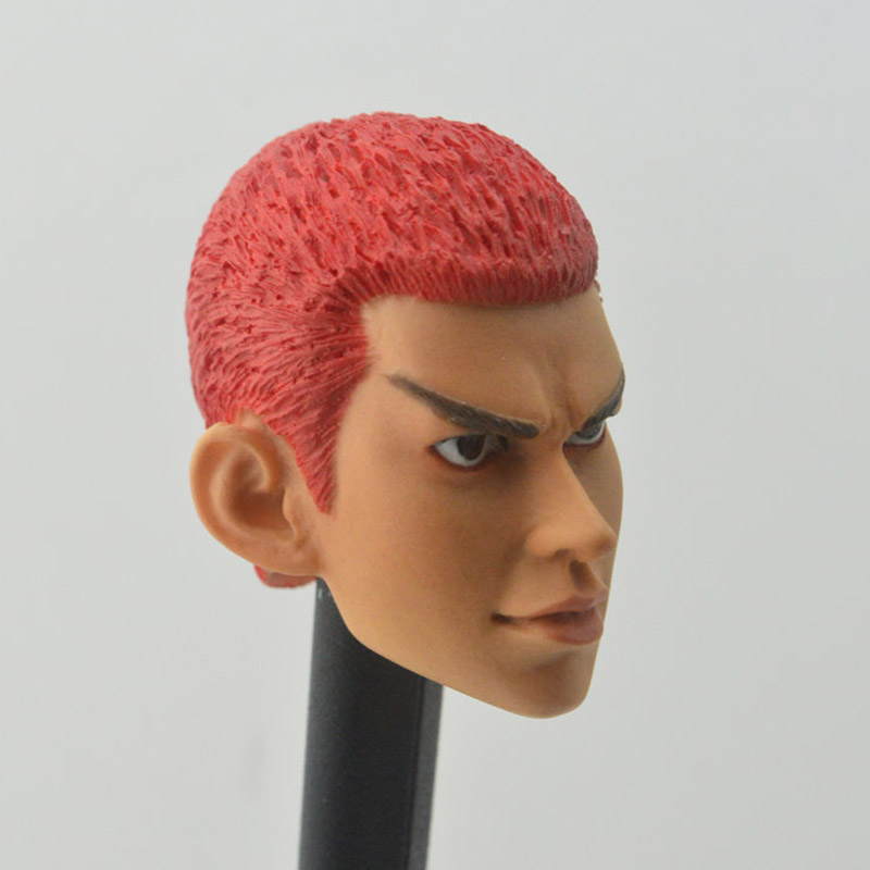 1/6 Scale Basketball Player SLAM DUNK Hanamichi Sakuragi backboard power forward Head Sculpt Headplay for 12 Action Figure Body image