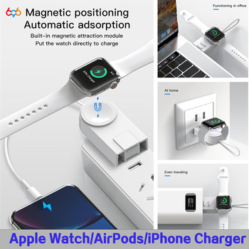 For Apple Watch Airpods Charger Cable Fast Wireless Charger For iWatch 1 2 3 4 5 Portable USB Phone Cables For iPhone 11 Pro Max