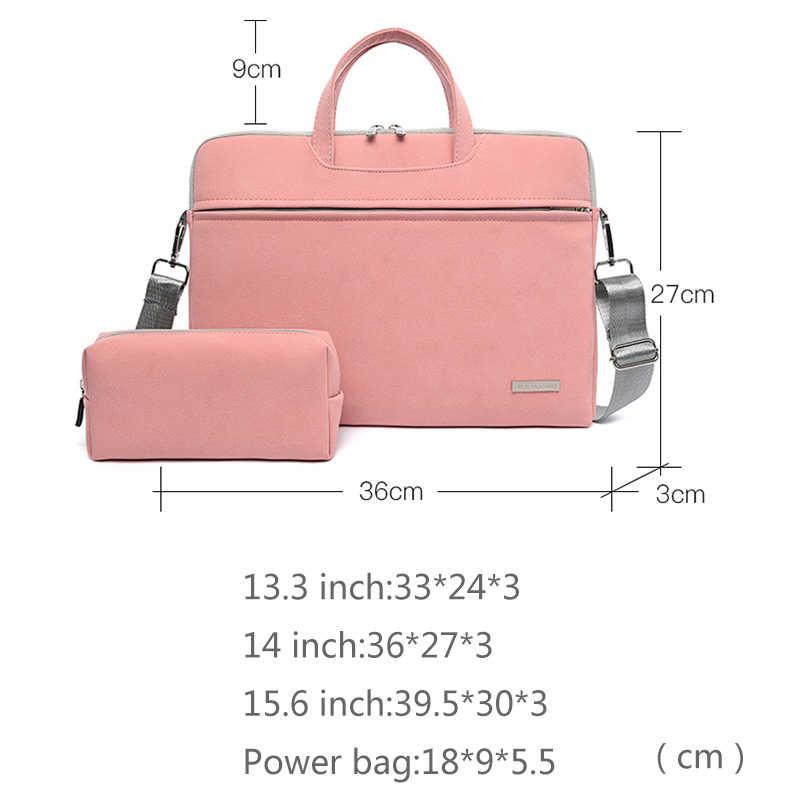 Pu Leer Vrouwen Laptop Tassen Notebook Draagtas Aktetas Voor Macbook Air 13.3 14 15.6 Inch Mannen Handtassen Schouder Muis tas