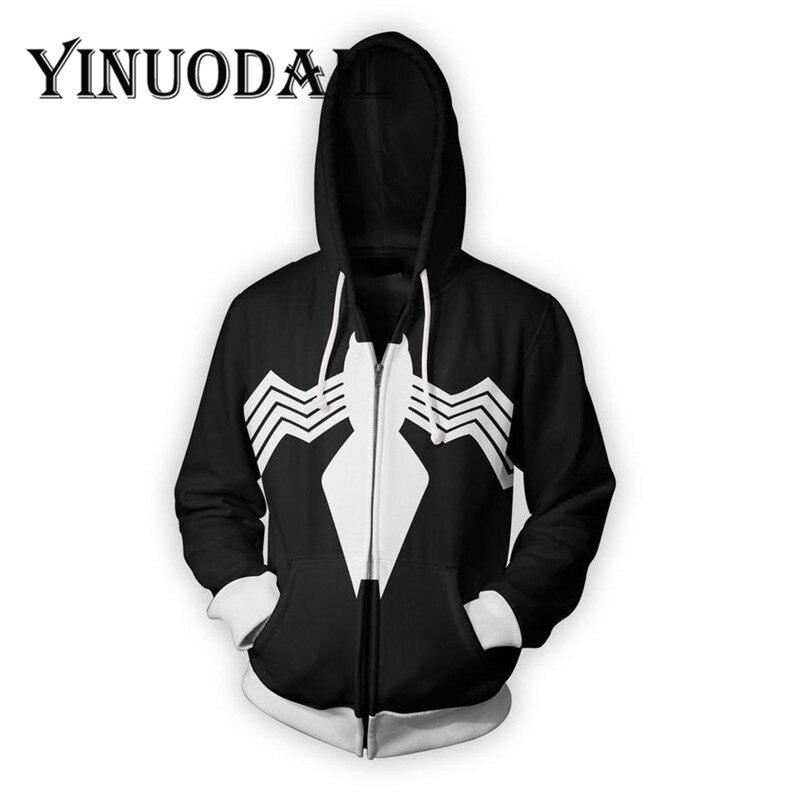 Fans Wear Spiderman Mens 3D Hoody Jackets Erkek Sweatshirts Long Sleeve Hip Hop Cosplay Custome Zip Up Hoodie in Jackets from Men 39 s Clothing