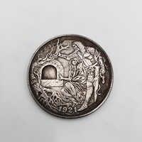Moneda Hobo estadounidense para hombre y mujer, moneda conmemorativa chapada en plata de latón, artesanías para decoración del hogar, regalos para coleccionar monedas, 1 Uds., 1921