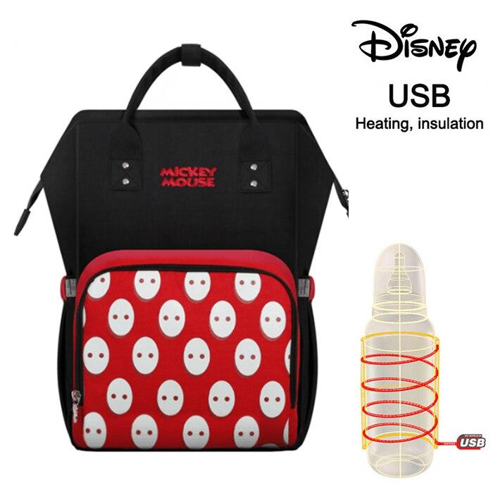 Disney Usb Baby Diaper Bag 2020 New Backpack Insulation Bags Minnie Mickey Big Capacity Travel Oxford Feeding Baby Mummy Handbag