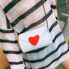 Women PU Leather Cross Body Bag Mini Red Heart Hasp Fashion Messenger Flap Bag Candy Color Party Shoulder Handbag Pink White#2 brown bag high quality leather messenger bags brand fashion design cross body flap box handbag black green white color