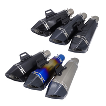 цена на Universal 51mm Inlet Muffler Motorcycle Scooter Exhaust Pipe Modified Motocross Pipe For Yamaha Honda CBR250/400 ATV Dirt Bikes