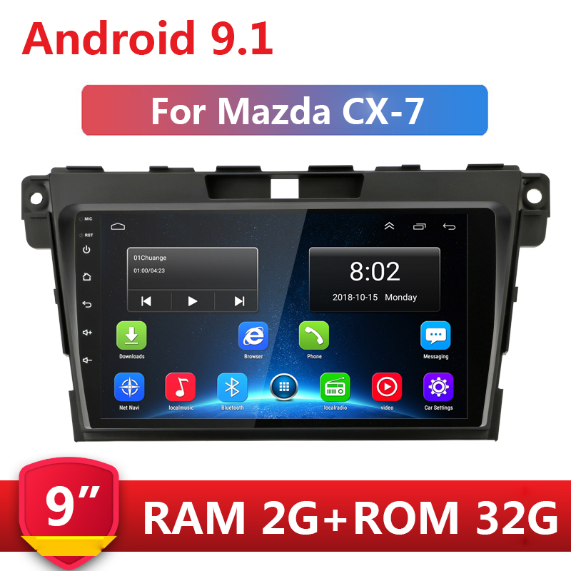 <font><b>9</b></font>'' 2 din Android <font><b>9</b></font>.1 Car Radio Multimedia Stereo Audio Video Player 2din Navigation GPS wifi for <font><b>Mazda</b></font> <font><b>CX</b></font>-7 CX7 <font><b>CX</b></font> 7 2008-2015 image