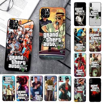 FHNBLJ Gta 5 Grand Theft Auto V Phone Case for iPhone 11 12 pro XS MAX 8 7 6 6S Plus X 5 5S SE 2020 XR case image