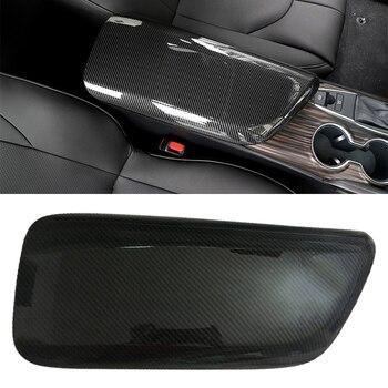 DWCX Carbon Fiber Style ABS Car Interior Center Armrest Storage Box Cover Trim Moulding fit for Toyota Camry 2018 2019